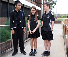 Students proudly modelling the current school uniform
