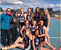 One of the Canberra High School Netball Teams