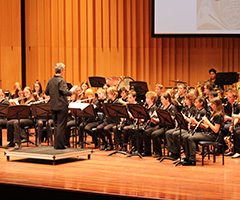 One of the Canberra High School Bands performing at the Australian National Eisteddfod