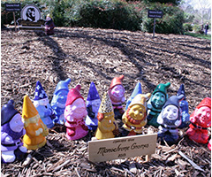 Students garden gnomes displayed at Floriade