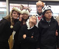 LSUA students celebrating book-week