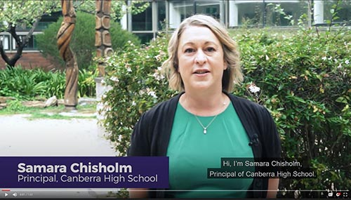 Canberra High School Enrolment video