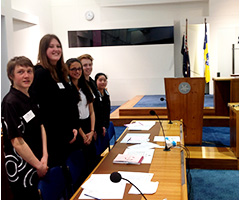 INSPIRE students at the  Parliamentary Debate