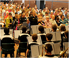 The Band performing at the Canberra High School 75th Celebration