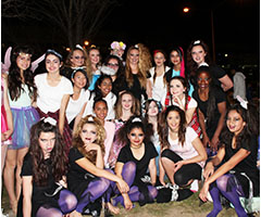 Students participating in Dancefest
