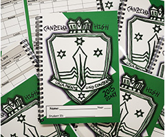 Students receive a Canberra High School Diary each year