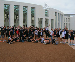 Students on an excursion to Parliament House