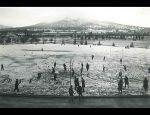 1949 July 19 Football Field in Snow
