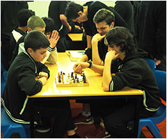 Chess competitions in the library