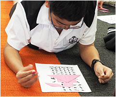 Students enjoying a day of Maths games