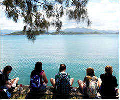 Students studying French have the opportunity to travel to New Caledonia